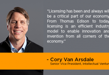 Cory Van Arsdale on licensing, collaboration and the future of patenting